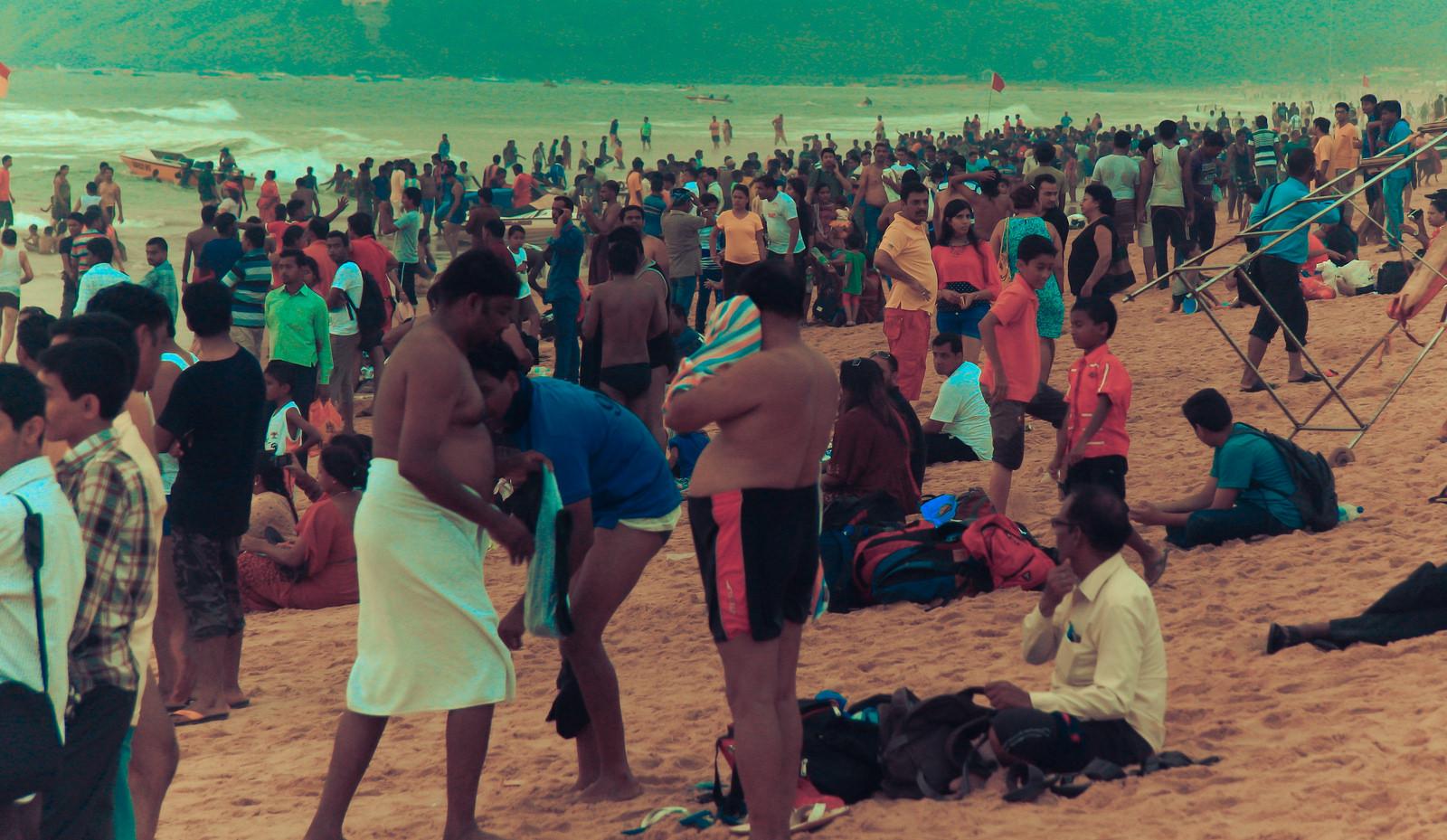 Фото пляжа калангут на гоа